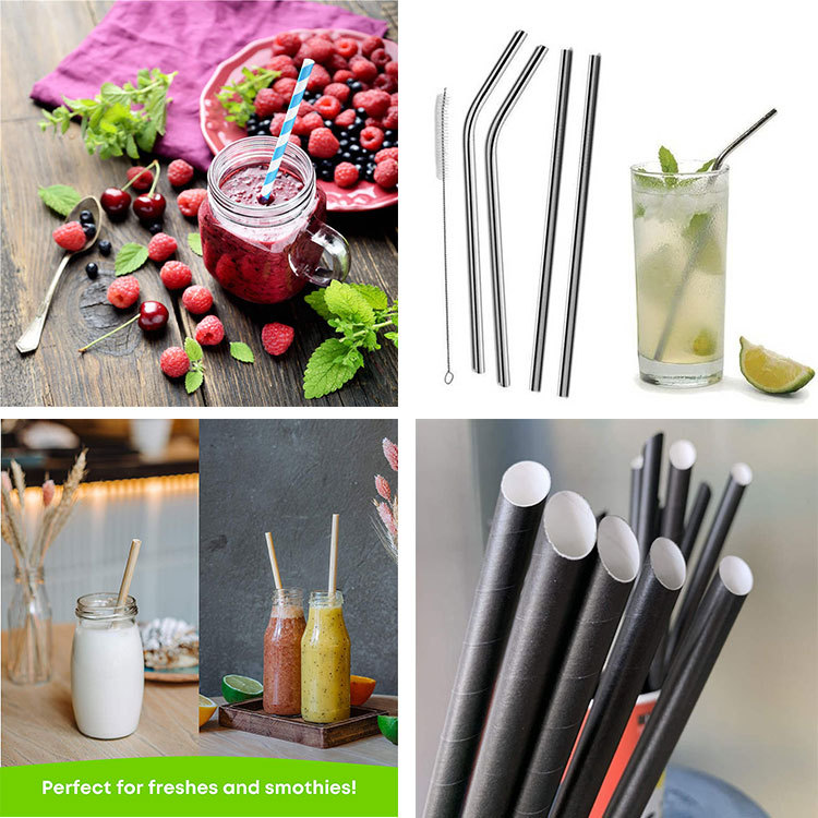 Comparison of various straws