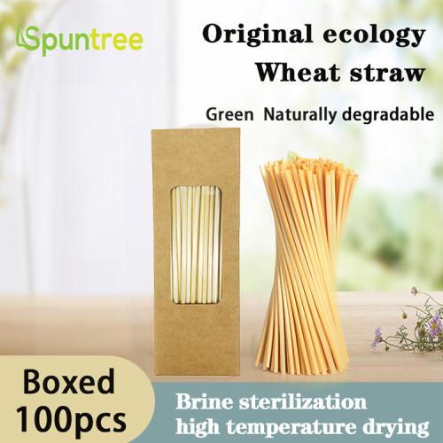 100per Box 5mmの自然な健康および環境保護の分解可能な安全で長いムギのわら