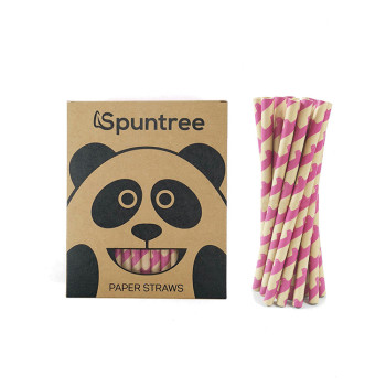 10mm Biodegradable Wood Pulp Bamboo Drinking Paper Straws for Bar