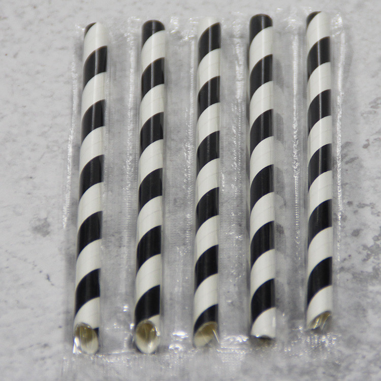 Row Drinking Paper Straw