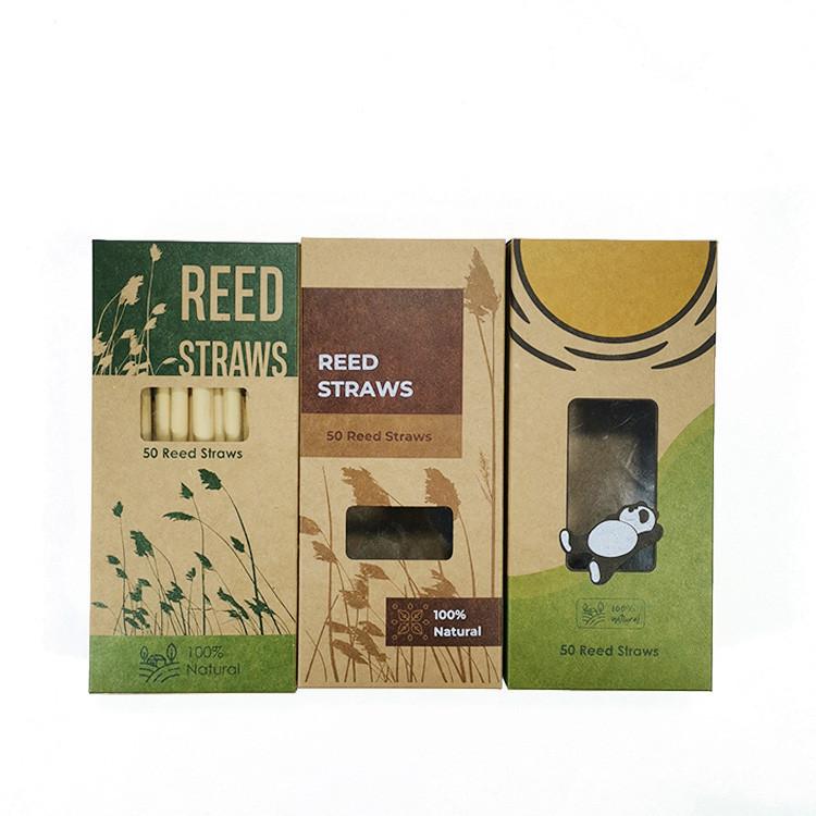 Kraft box reed straws
