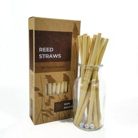 50ピース箱入りリードステム天然植物ミルクティーコールドドリンクコーヒー大径クリエイティブリードストロー
