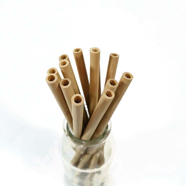 yellow bamboo straw