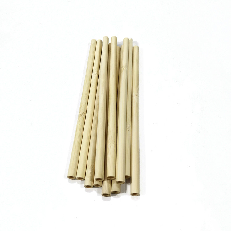 yellow bamboo straws