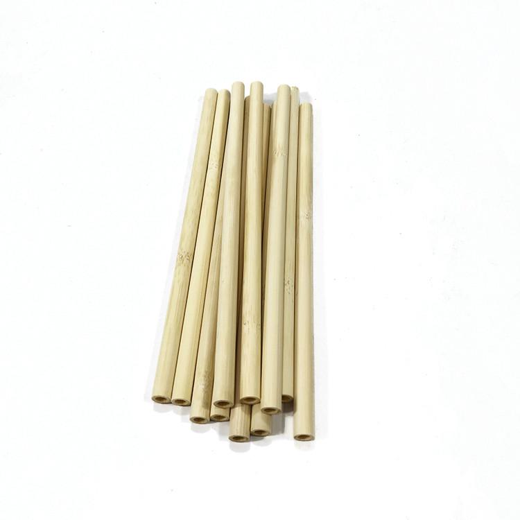 黄色の竹ストロー