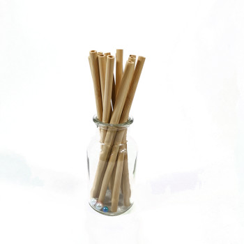 Eco Bamboo Straw Factory Direct Sale Original Bamboo Straw European and American Dining Bar Green
