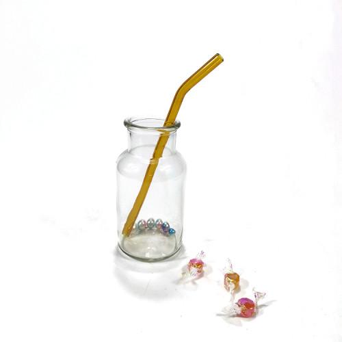 クリエイティブガラスストローセット透明ガラスストロー耐熱環境健康ガラスストローセット