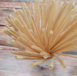 100pcs 4mm natural health  safe long  organic wheat drinking straws