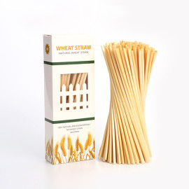 4mm organic natural cocktail wheat drinking straws factory
