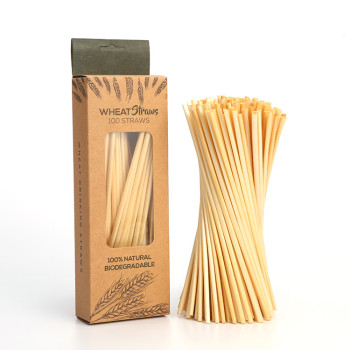 100per Box 5mm natural health and environmental protection degradable safe long wheat straw