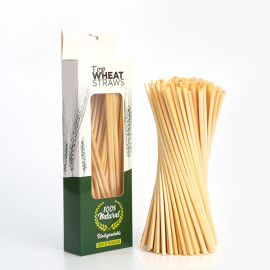 100per Box Pure natural health and environmental protection degradable ultra-fine long wheat straws