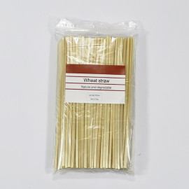 Compostable eco-friendly disposable grass wheat drinking straws