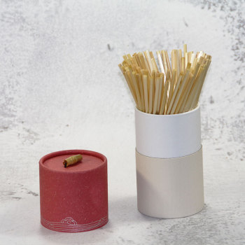 Wholesale factory bar tableware wheat straw carton package straw cocktail degradable wheat straw
