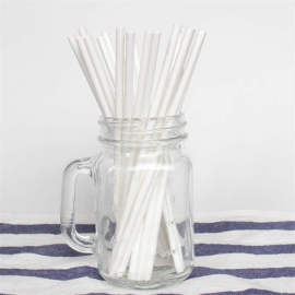 6mm Spuntree cnposable white paper drinking straws