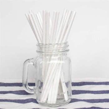6mm Spuntree cnposable white paper drinking straws