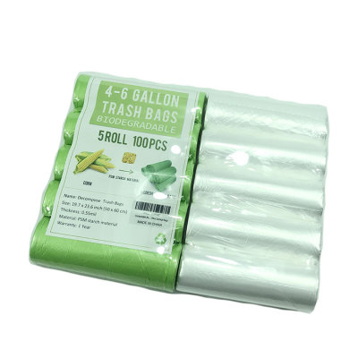 Biodegradable corn starch garbage bags compostable trash bag