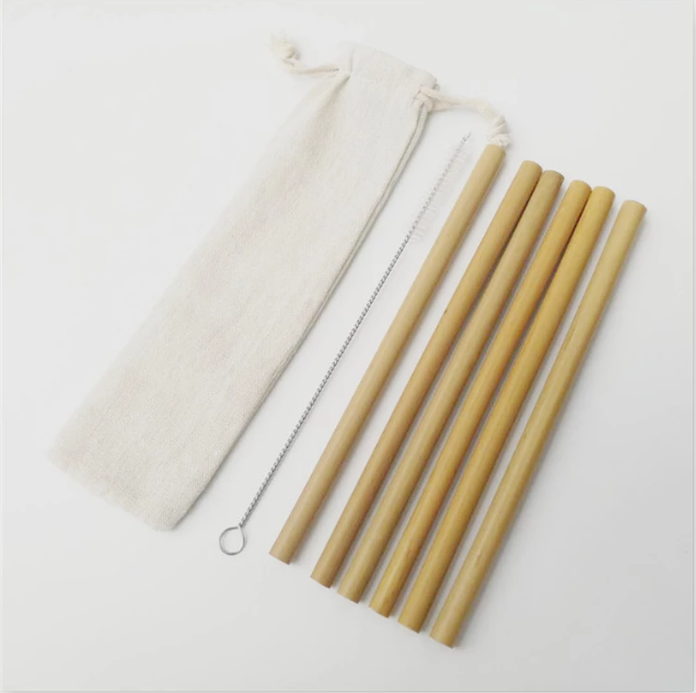 cloth bag bamboo straw