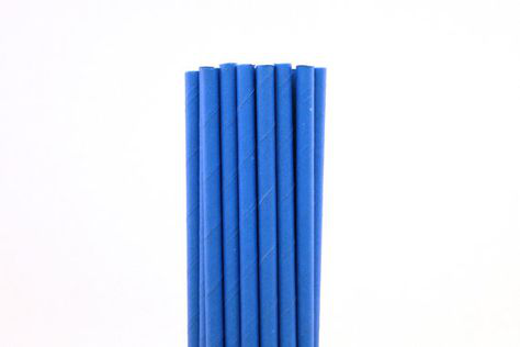 6mm Degradable blue Paper Straw