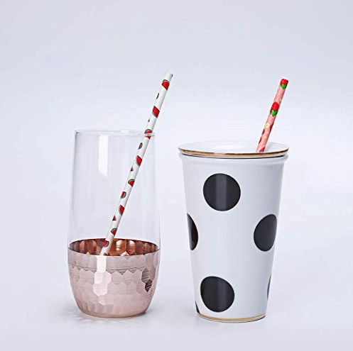 6 mmエコフレンドリーなリサイクル可能な再利用可能な熱い販売分解性フルーツペーパーストロー