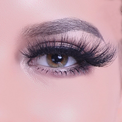 Dramatic Look Hecho a mano 100% Siberiano 3D Mink Strip 25mm Pestañas para maquillaje