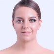 Pestañas de visón sintético de material de fibra sintética de lujo reutilizables hechas a mano para maquillaje de mujer