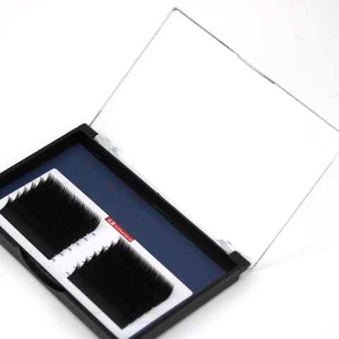 Extensiones de pestañas visuales de fibra PBT coreana 100% hechas a mano para mujeres