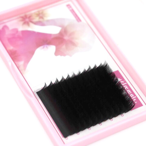 Private Label Cluster Rapid Automatic Blooming Easy Fan Lash Extensions