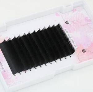 Private Label Cluster Extensiones rápidas y rápidas de floración automática de pestañas de ventilador