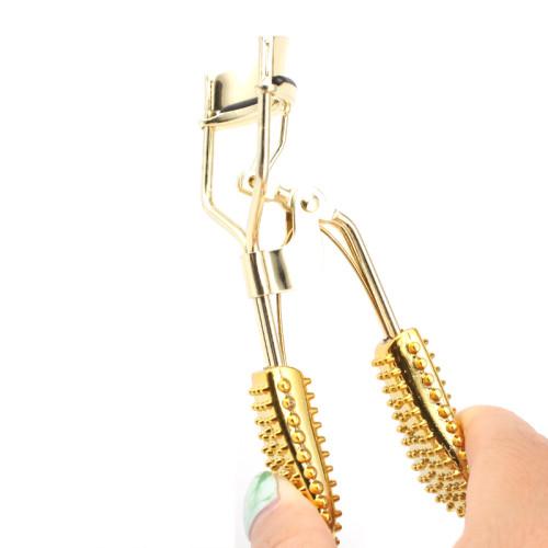 Etiqueta privada Venta al por mayor Rizador de pestañas Rizador de pestañas de oro Aplicador