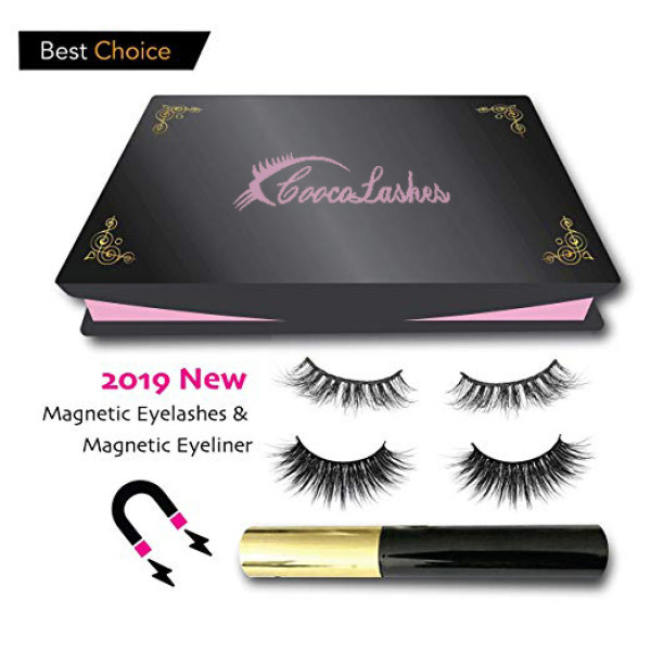 High quality Upgraded Waterproof Magnetic False Eyelashes with Magnetic Liquid Eyeliner Set-No Glue