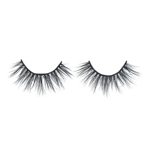 Real Siberian Luxuriour Natural Strip 3D Mink Lashes With Customized Packaging