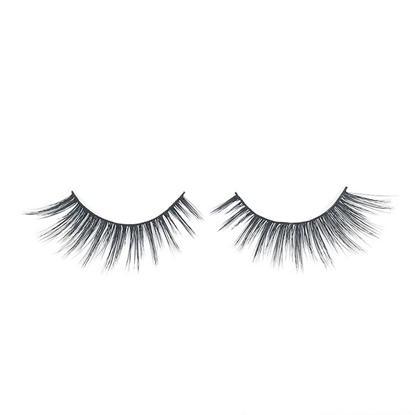 Hand-made Reusable Luxury Synthetic Fiber Material Faux Mink Eyelashes For Women's Makeup