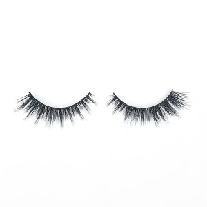 High Quality Korean False Dramatic Round Look Natural Faux Mink Lashes For Woman