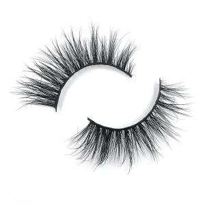 Crea tu propia marca de pestañas Cómodas y gruesas pestañas de visón 3D baratas para maquillaje de cejas