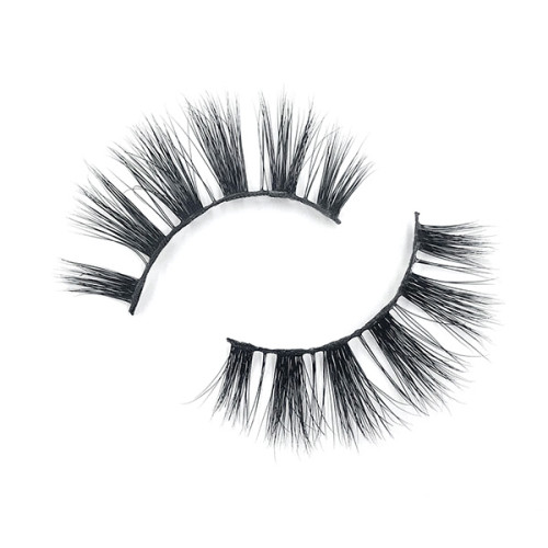 Venta caliente Real Siberian Strip Mink Eyelashes 3D para mujer Look natural