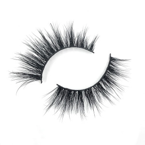 Cheap Thick Round Look Short Cross Winged 3D Mink Eyelashes Private Label And Custom Packaging