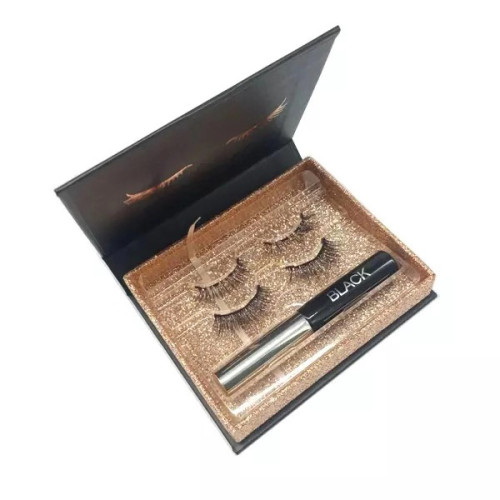 Pestañas magnéticas de delineador de ojos magnético fino ligero con aplicador