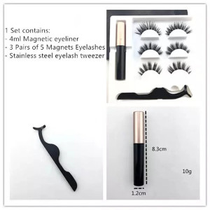 Best 3D Reusable  Magnetic Eyeliner And Lashes With Eyeliner
