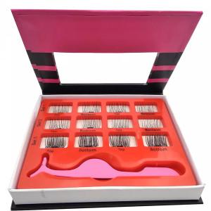 Glamorous Natural Looking Magnetic Eyeliner Kit No Glue False Lashes