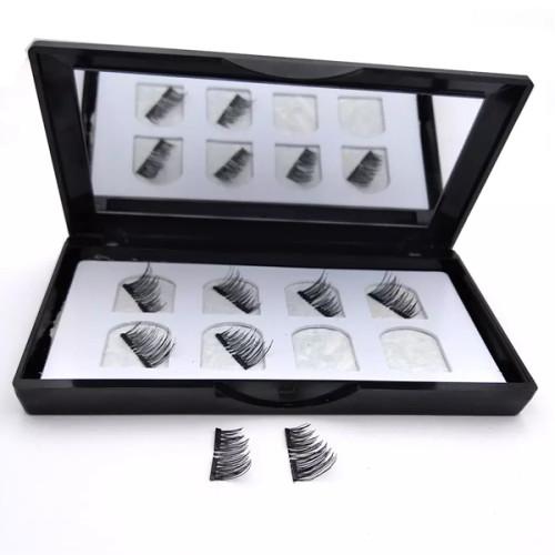 Kit de delineador de ojos magnético de aspecto natural glamoroso Sin pegamento Pestañas postizas