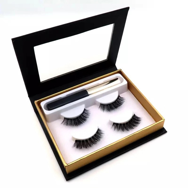 Natural Look Cheap Black Eye Liner Lashes Magnetic With 3D Magnetic False Eyelashes