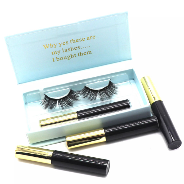 Natural Look  Ultra Solf Black Eyeliner  Magnetic False Lashes For Entire Eyes