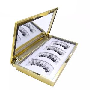 Natural Look  Ultra Solf Black Eyeliner  Magnetic False Lashes For Entire Eyes