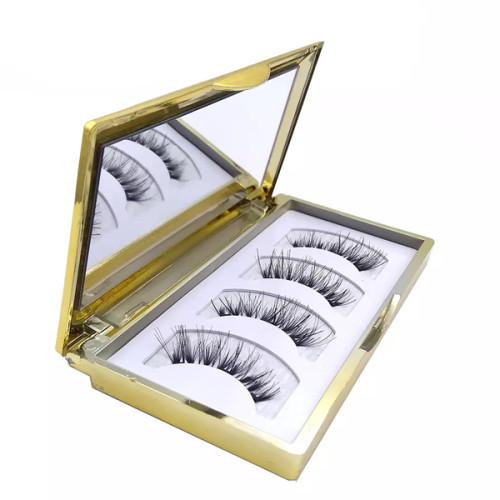 Natural Look Ultra Solf Black Eyeliner Pestañas postizas magnéticas para ojos enteros