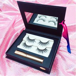 Factory Price Oem 100% 3D Mink False Magnet Eyelashes