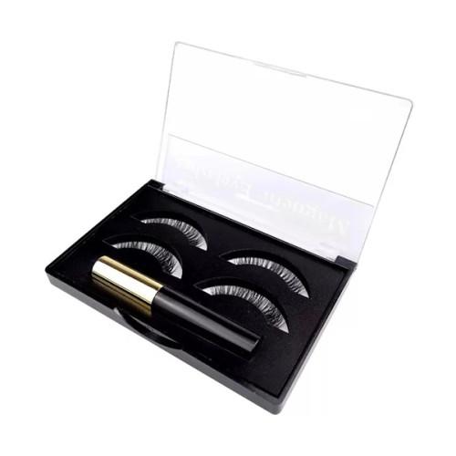 Etiqueta privada reutilizable líquido delineador magnético y pestañas para tiras de pestañas