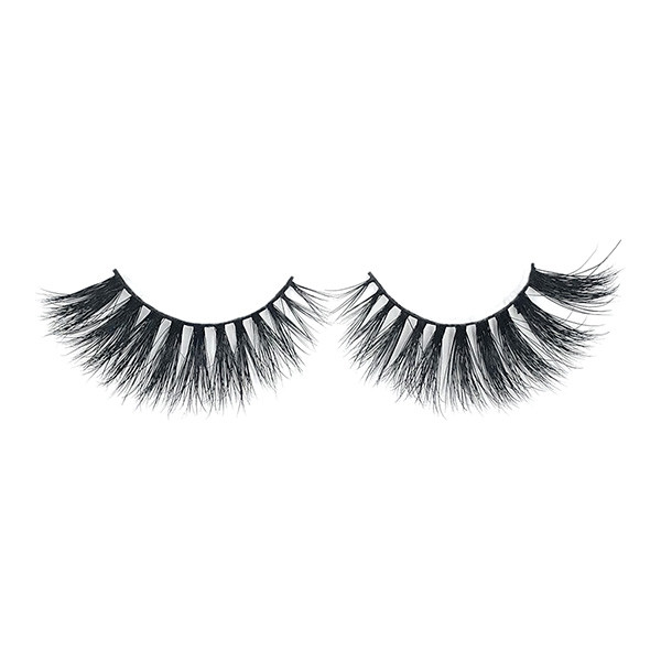 Handmde Wispies Natural False Eyelashes Mink With Lashes Curler