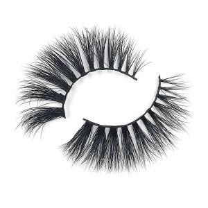 Handmde Wispies Natural False Eyelashes Mink With Lashes Curler