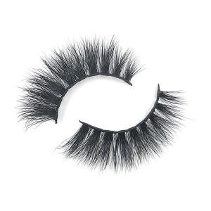 100% Real Reusable 3D Fake Mink Hair Eyelashes With Eyelash Curler