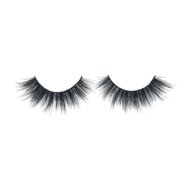 Private Label Wispies Short Natural False 3D Mink Eyelashes Vendor With Fake Lash Applicator
